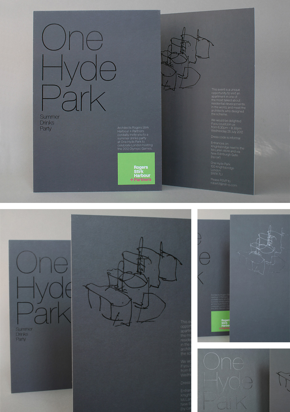 RSHP One Hyde Park invitation card