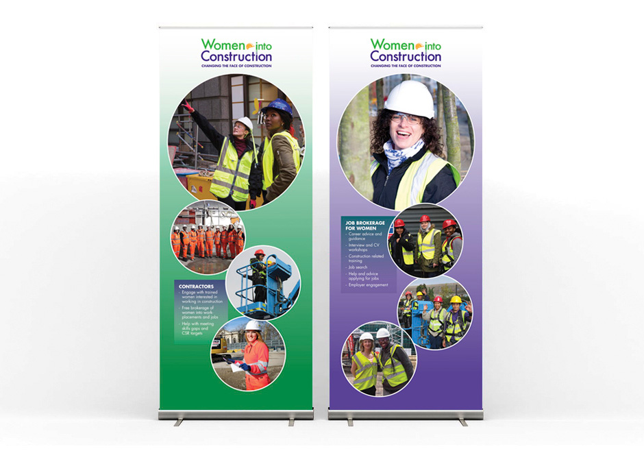 Women Into Construction - roller banners