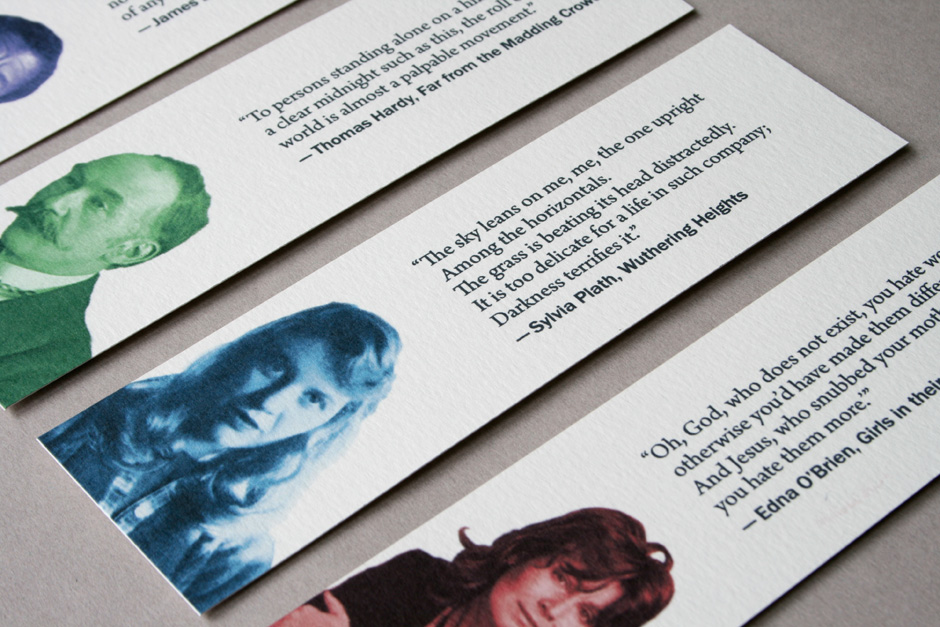 Bookmark featuring the work of poet Sylvia Plath