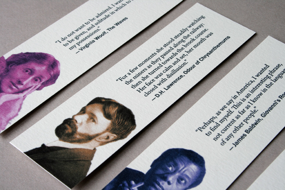 Bookmark featuring the work of author D.H. Lawrence