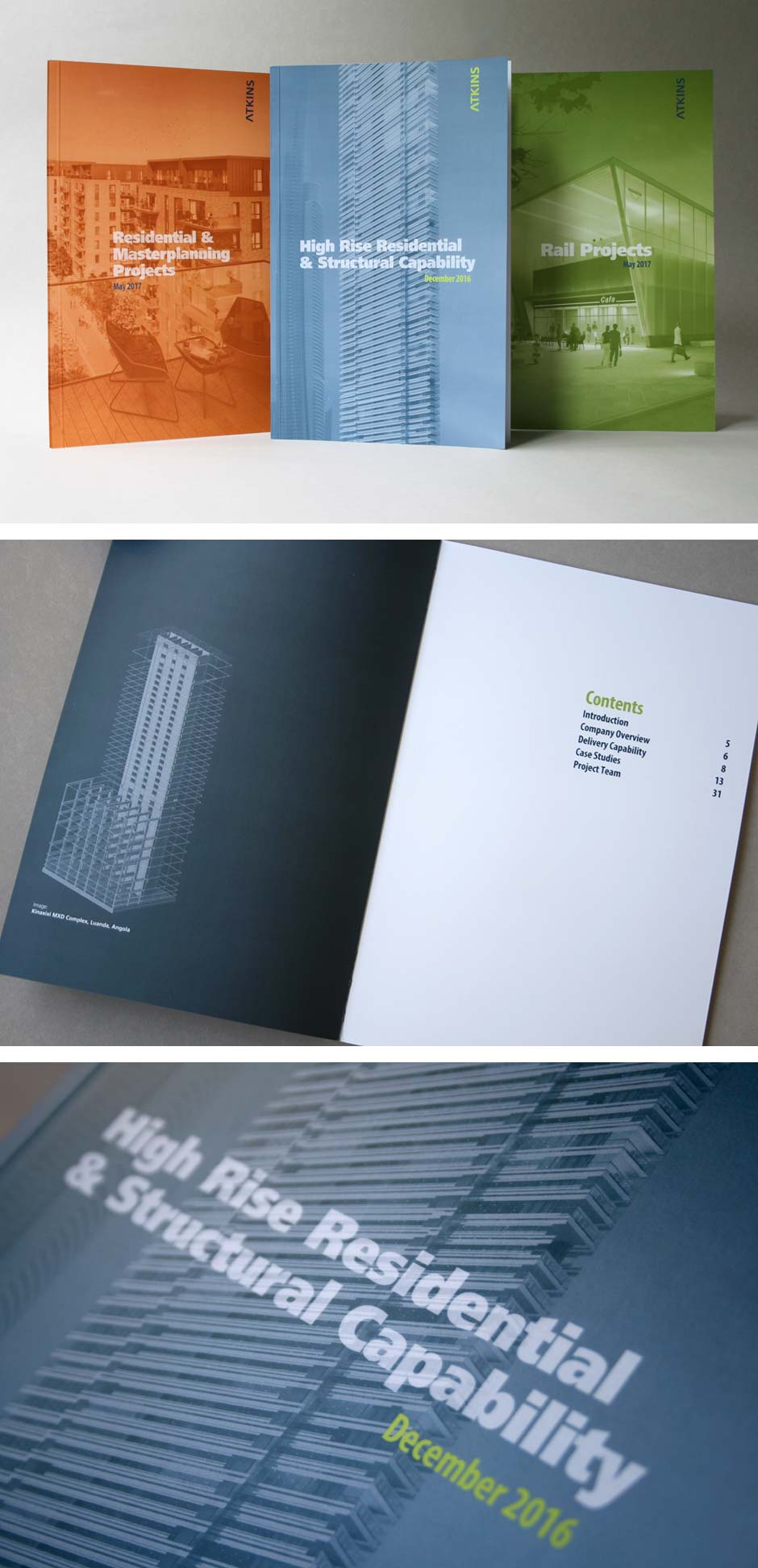 Atkins Global marketing brochures