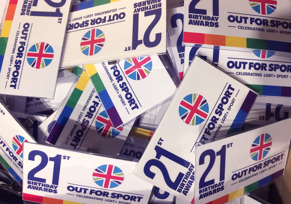Out For Sport 21st Birthday Awards badges