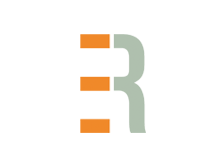 Orange and grey logo for Elton Research