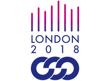 Logo with abstract flames for London 2018 10th Gay Games